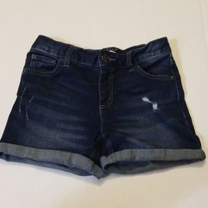 Justice Cuff Shorts Girls Size 12 Distressed